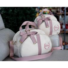 Jogo de maternidade bege com fita glam rose