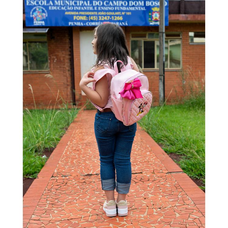 MOCHILA INFANTIL ROSA BEBÊ COM PINK