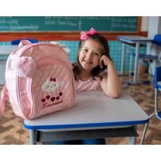 MOCHILA INFANTIL NUVEM - ROSA CLARO